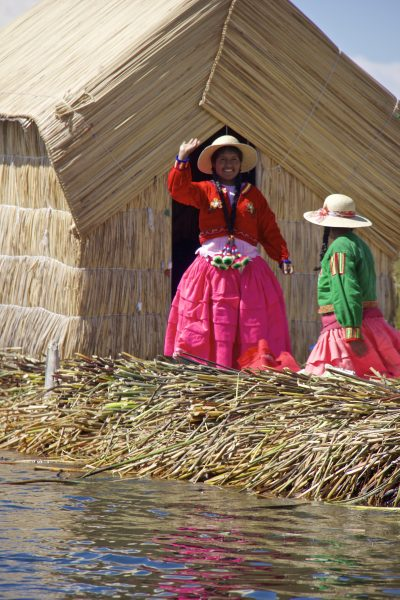 Travel to Uros Island Puno Peru